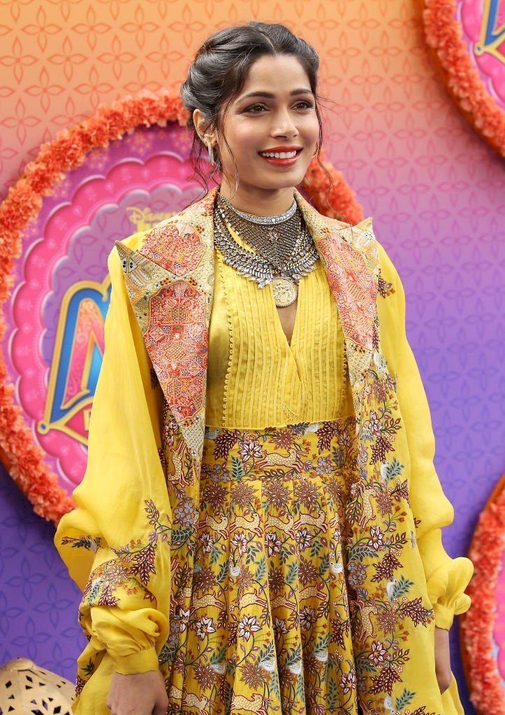 Image Credit: Getty Images / Freida Pinto on the red carpet.