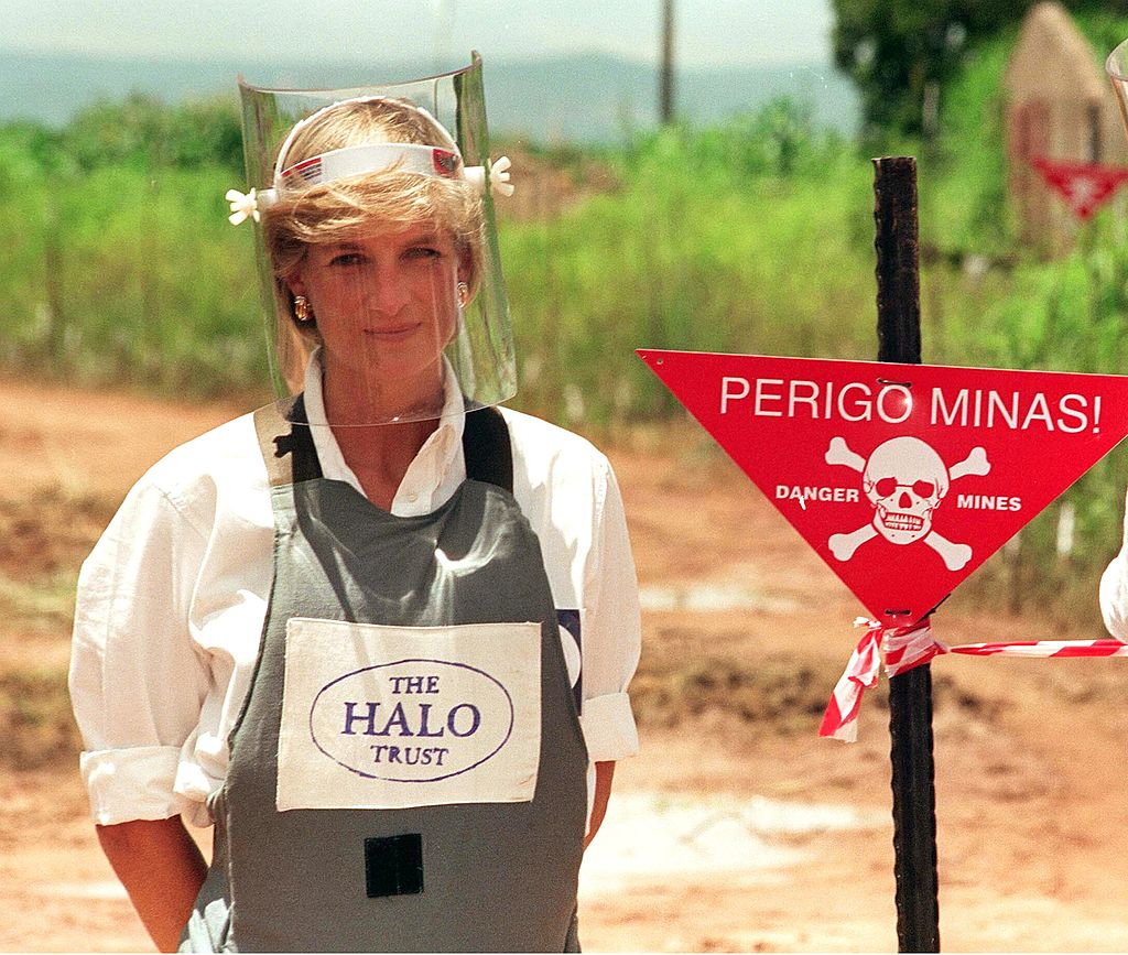 Image Credits: Getty Images | Prince Diana Campaigning Against Landmines