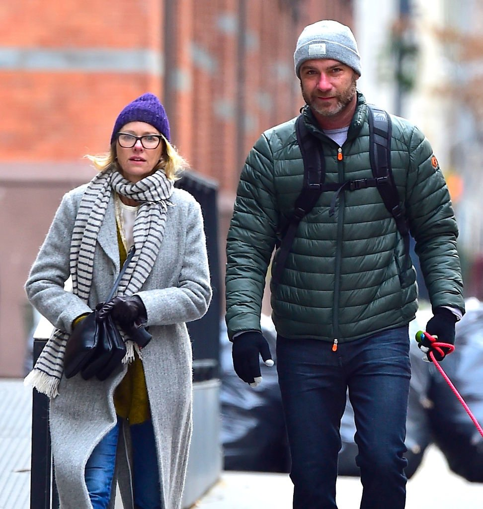 Image Source: Getty Images/Alo Ceballos/Naomi Watts and Liev Schreiber are seen in Tribeca on January 16, 2018 in New York City