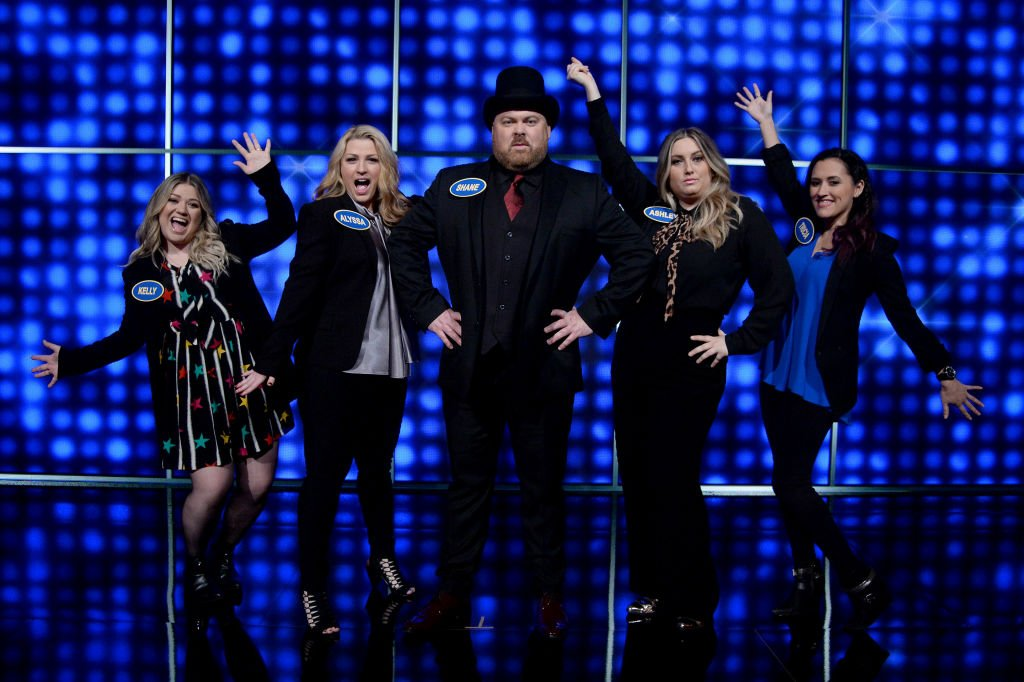 """Image Source:Getty Images/Eric McCandless/""""Celebrity Family Feud""""/ABC"""