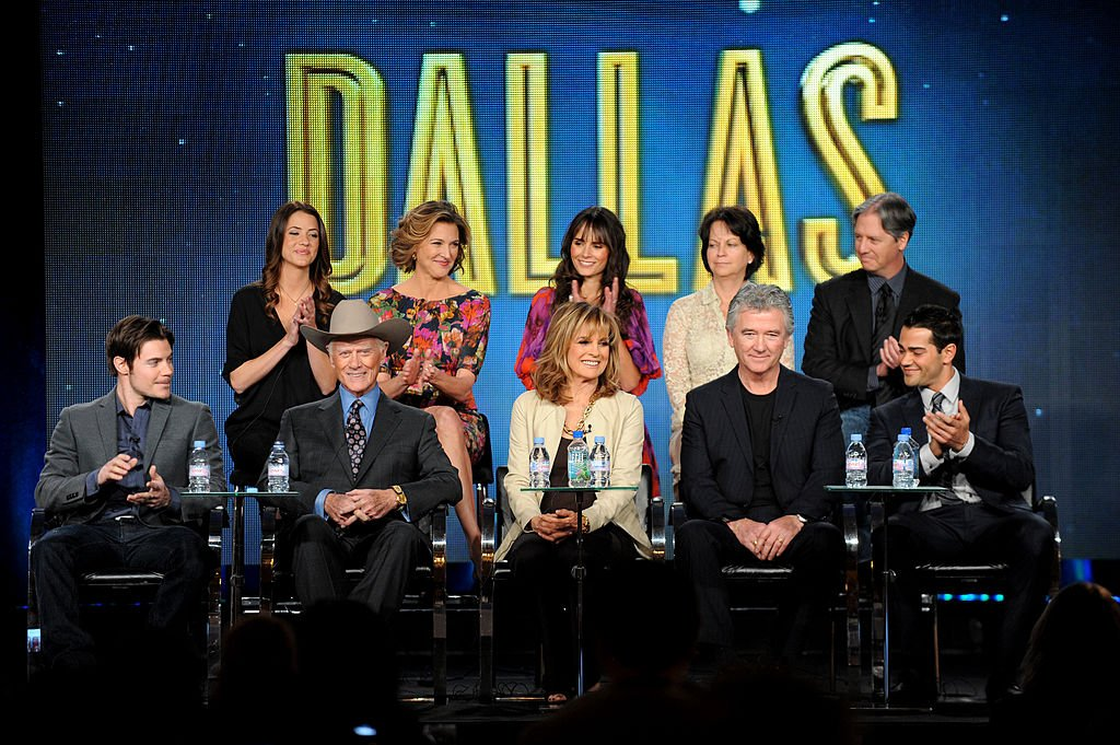 """Image Credit: Getty Images / Cast members and directors speak onstage at the """"Dallas"""" panel during the 2012 Turner TCA at the Langham Hotel."""