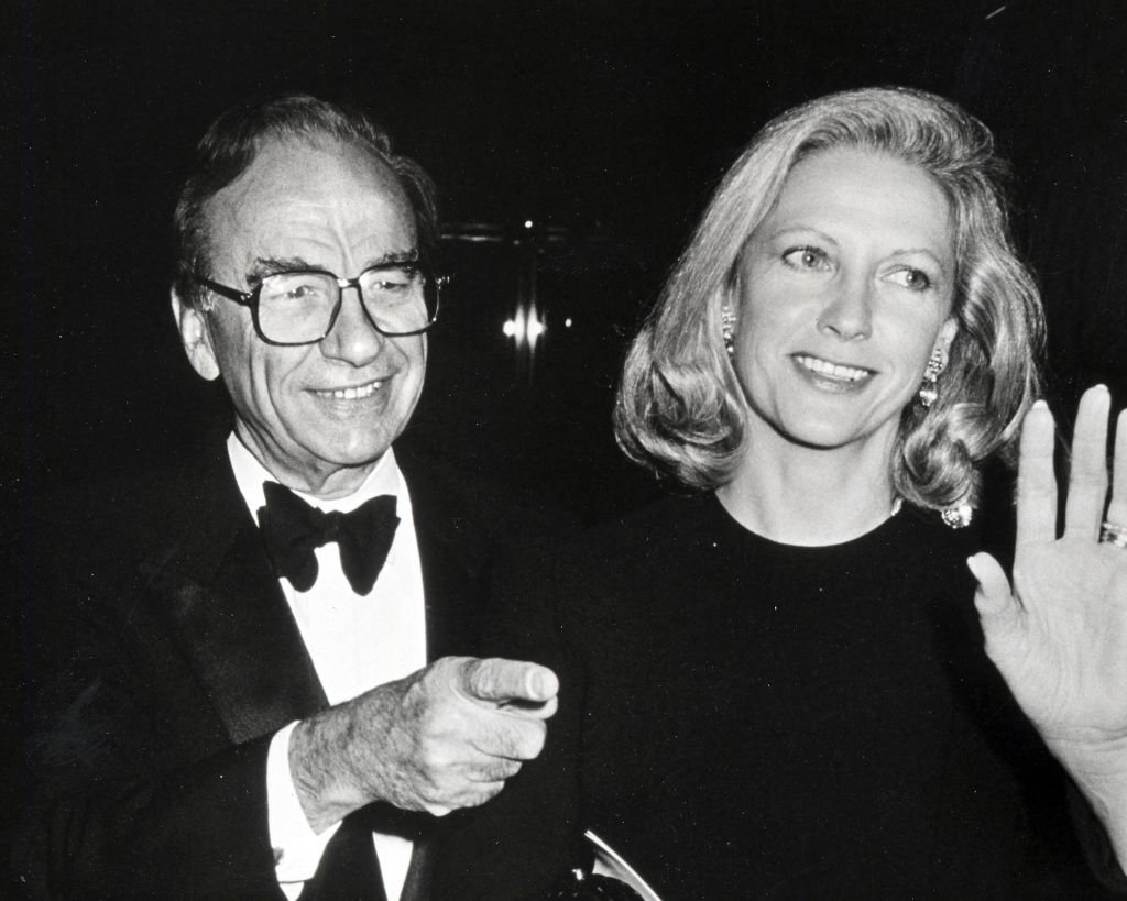 Image Credit: Getty Images / Rupert Murdoch and Anna Murdoch during a Benefit Staged by Arman Hammer at World Financial Center in New York City, New York, United States in 1998.
