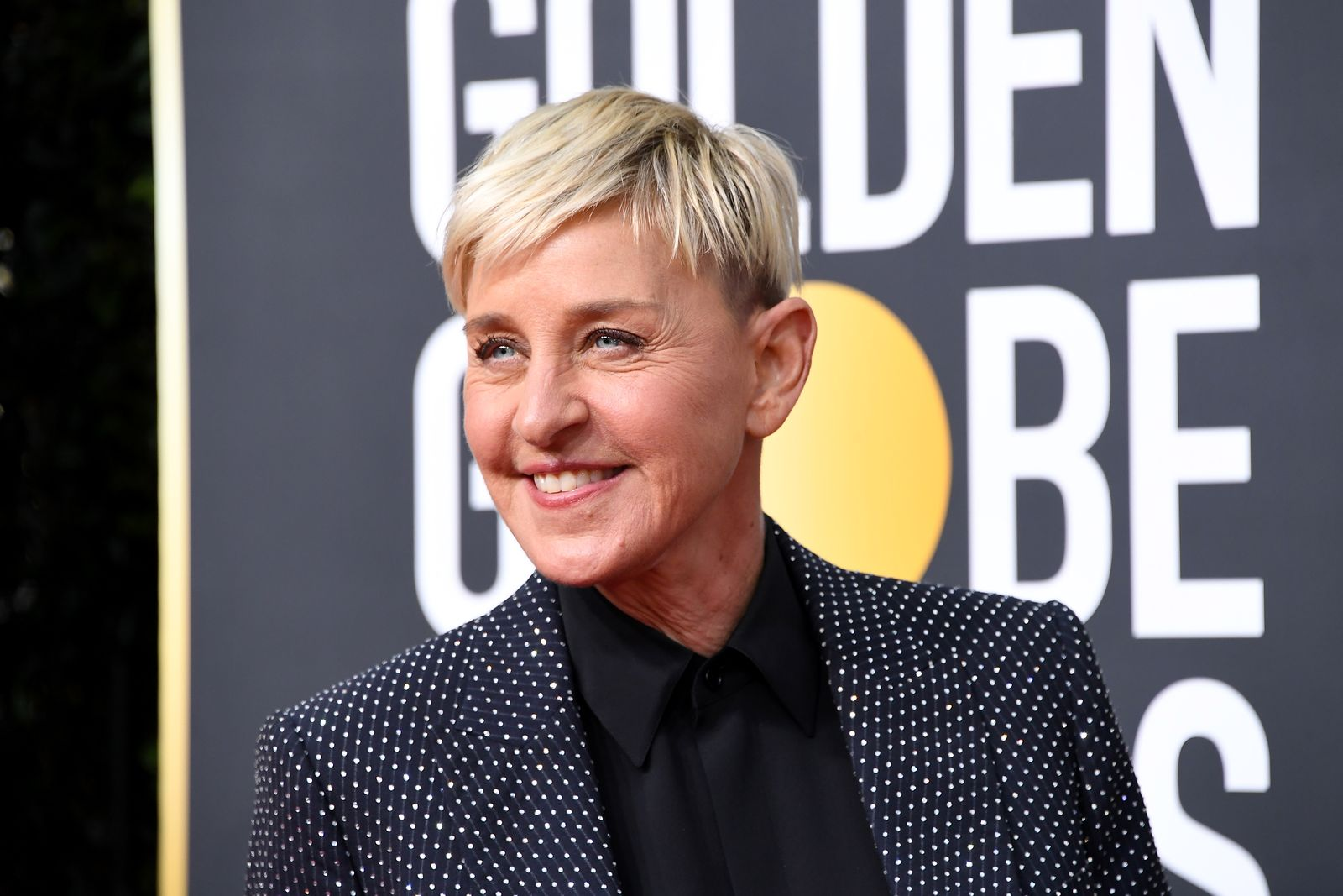 Ellen DeGeneres attending the 2020 Golden Globes/Photo:Getty Images