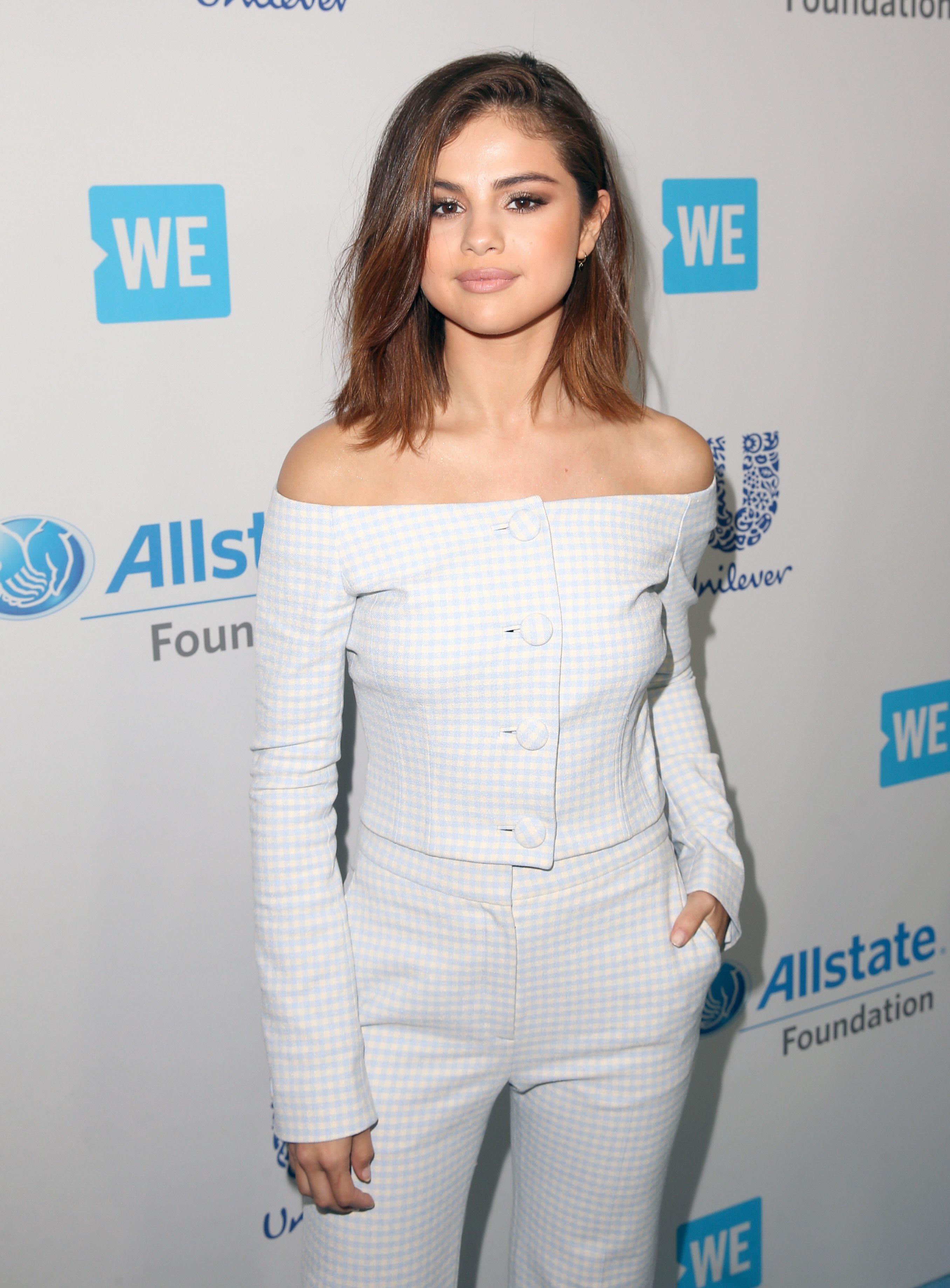 Image Source: Getty Images/Selena at the All State Foundation