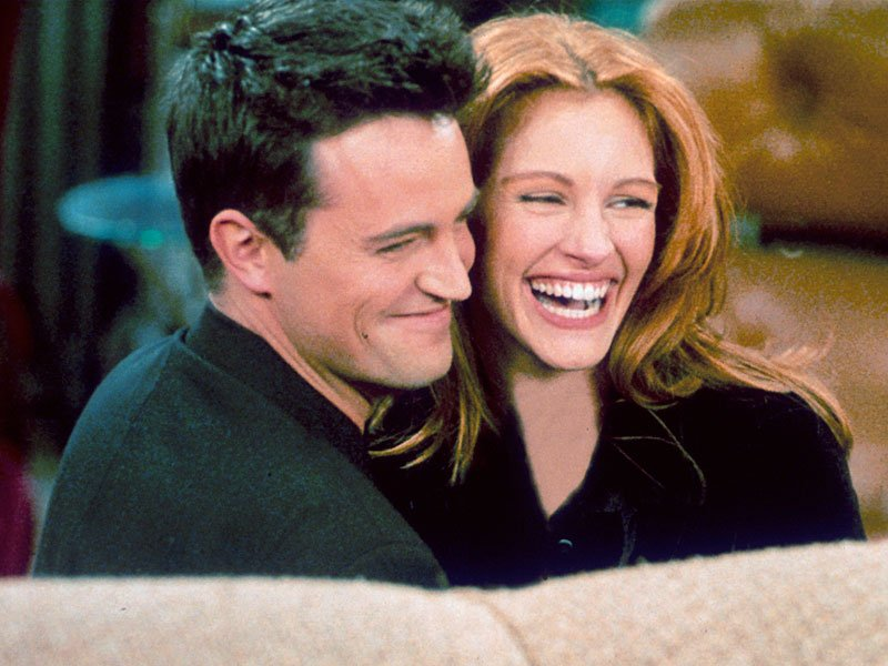 Image Credits: Getty Images | The character behind Chandler Bing had a short but sweet fling with Julia Roberts