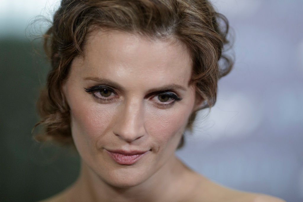 "Image Credit: Getty Images / Actress Stana Katic attends the ""Absentia"" premiere at Beatriz building on March 20, 2019 in Madrid, Spain."