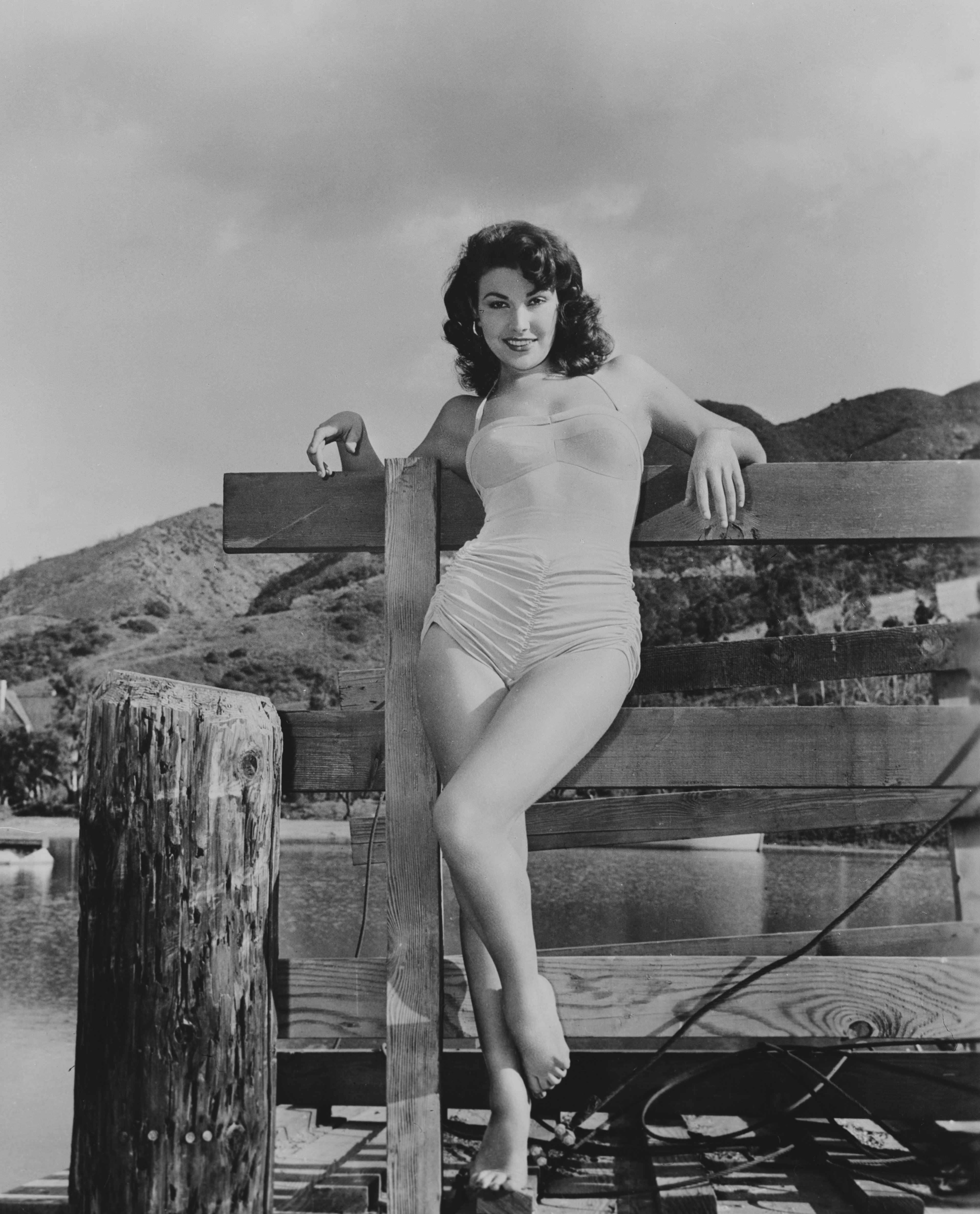 Image Source: Getty Images| Mara posing in her swimwear