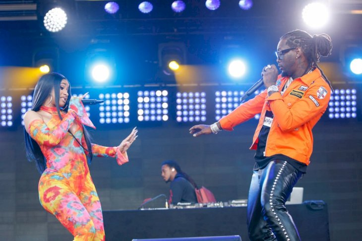 Image Credit: Getty Images / Cardi B and her former husband, Offset are photographed performing together.