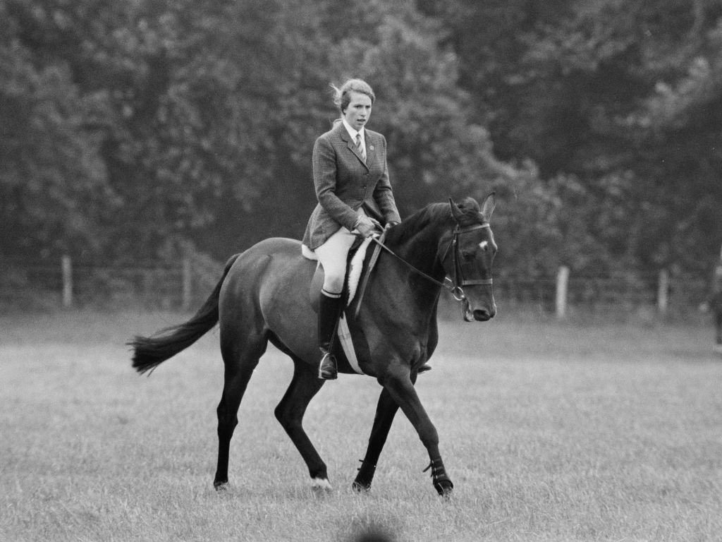 Image Credit: Getty Images / Princess Anne on horse Purple Star at Eridge Horse Trials, Kent, 3rd August 1968.