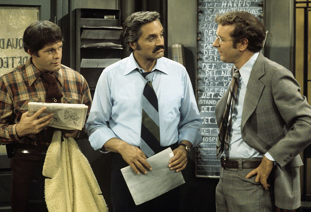 Image Credit: Getty Images / Max Gail, Hal Linden, Steve Landesberg on set for Barney Miller.