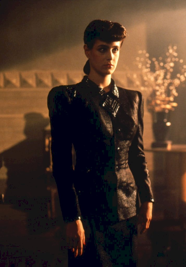 "Images Credit: Getty Images/Corbis via Getty Images/Sunset Boulevard | Sean Young on the set of ""Blade Runner"", directed by Ridley Scott."