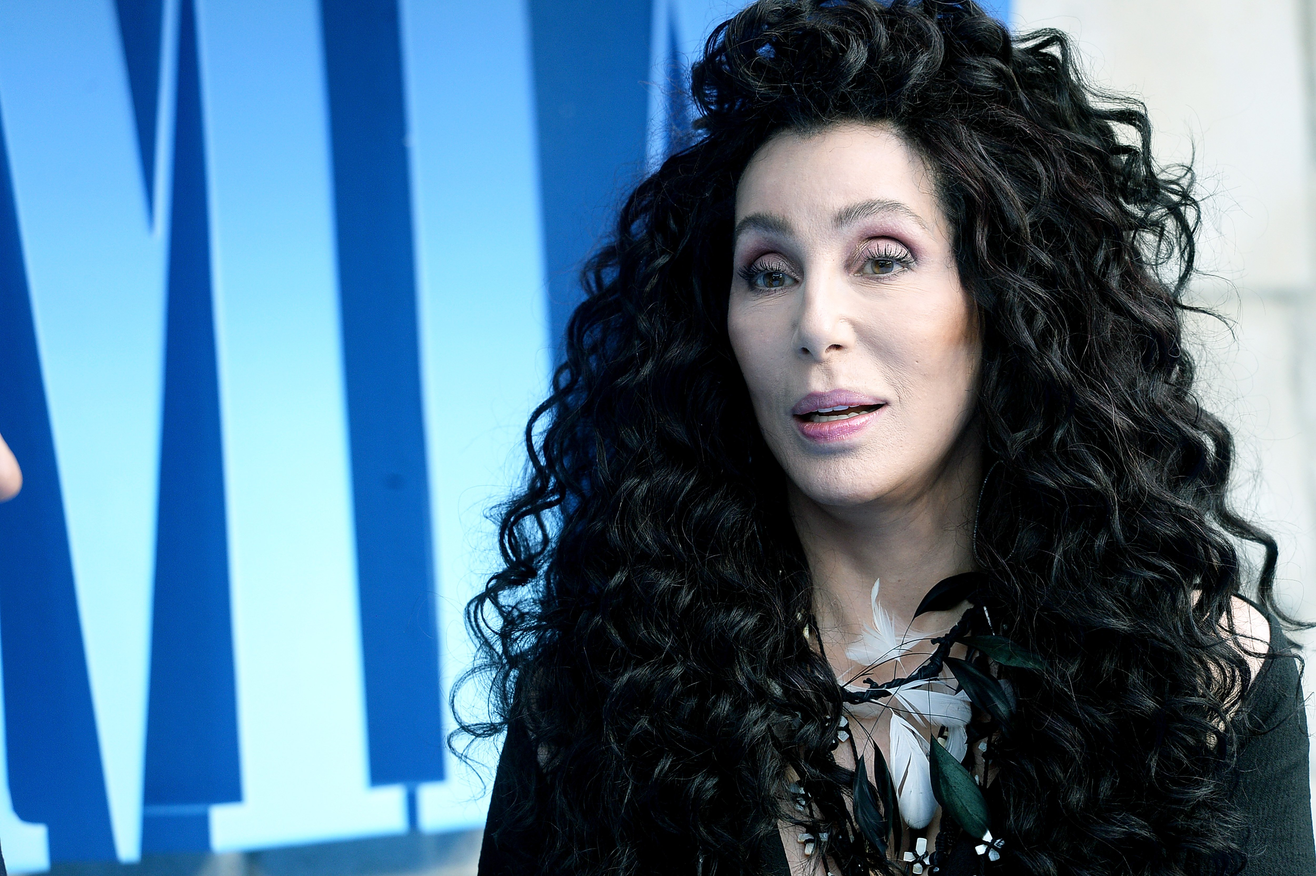Image Source: Getty Images/Cher at the premiere of Mama Mia