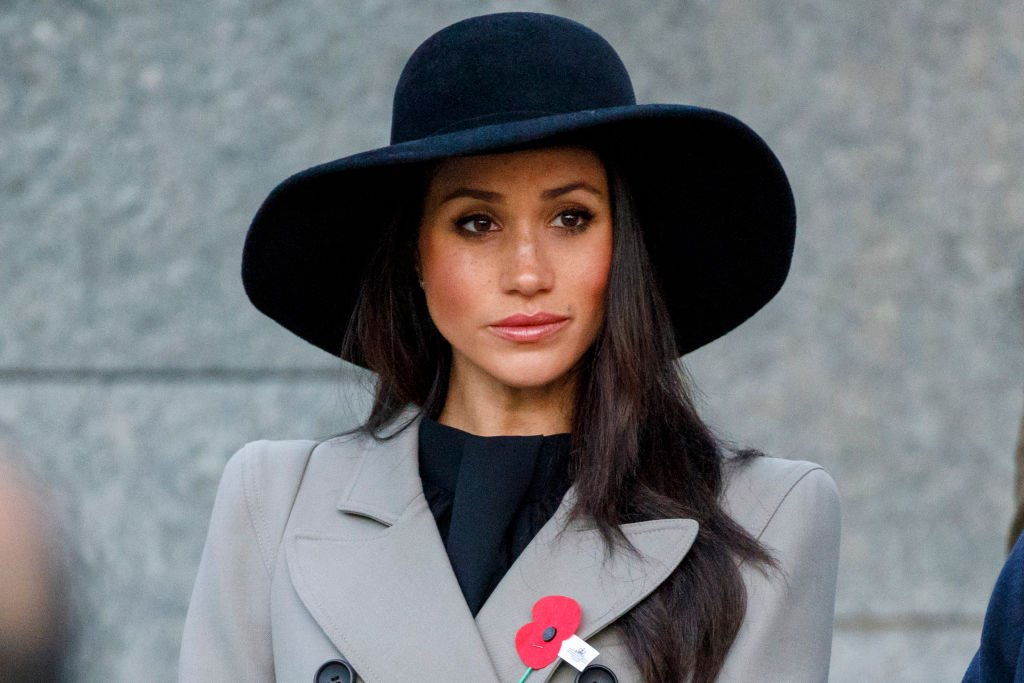 Image Credit: Getty Images /  Meghan Markle attends an Anzac Day dawn service at Hyde Park Corner on April 25, 2018 in London, England.