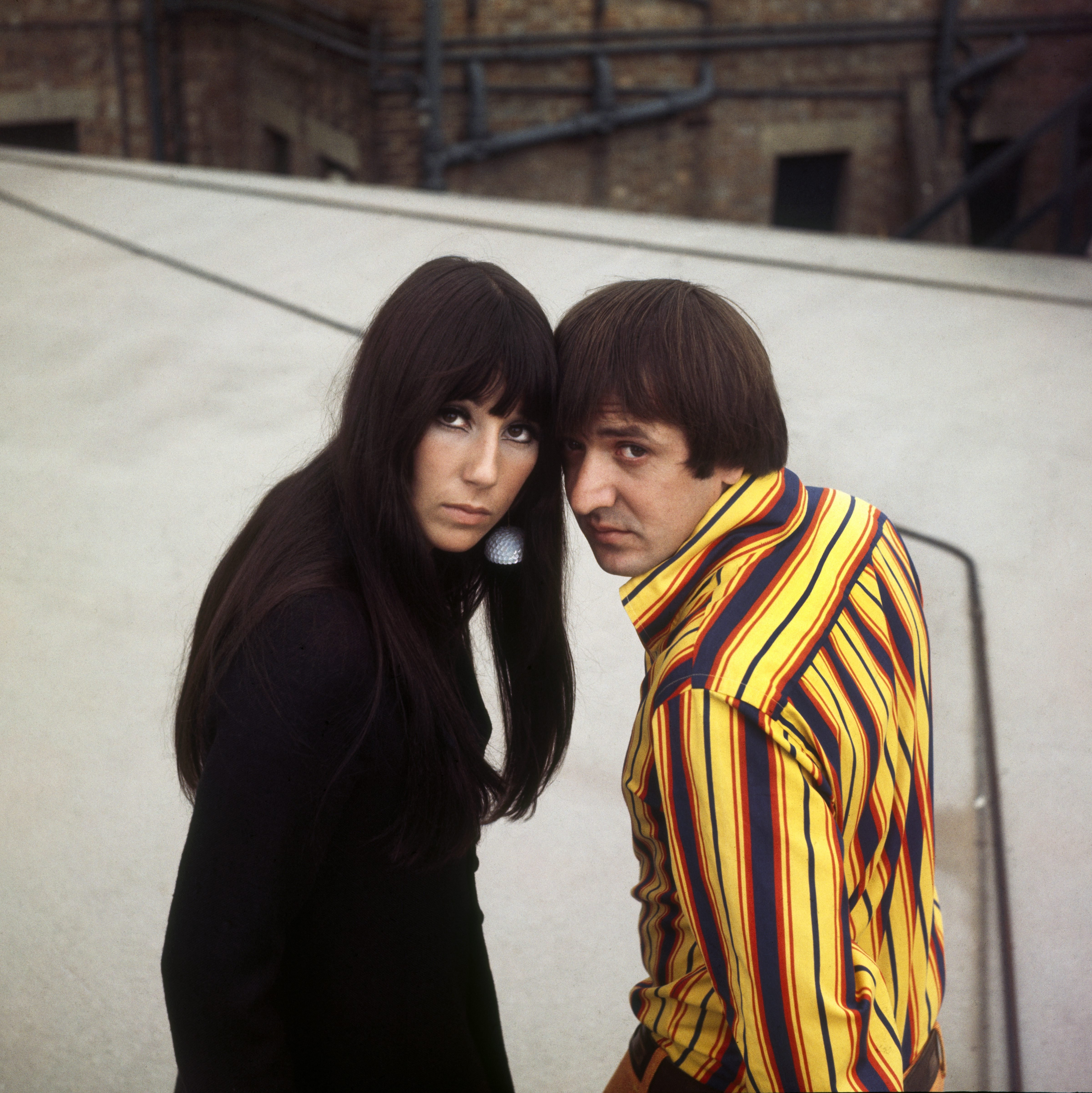 Image Source: Getty Images/Cher and Bono in a photoshoot
