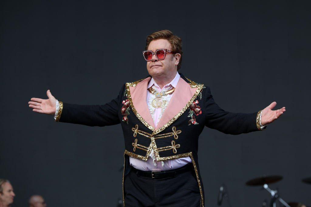 Image Credit: Getty Images / Elton John performs at Mt Smart Stadium on February 16, 2020 in Auckland, New Zealand.
