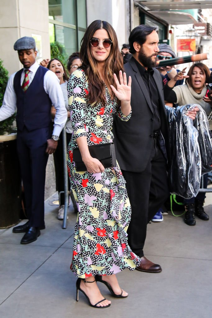 Image Credits: Getty Images / Alessio Botticelli / GC Images | Sandra Bullock is seen leaving her hotel on May 24, 2018 in New York, New York.