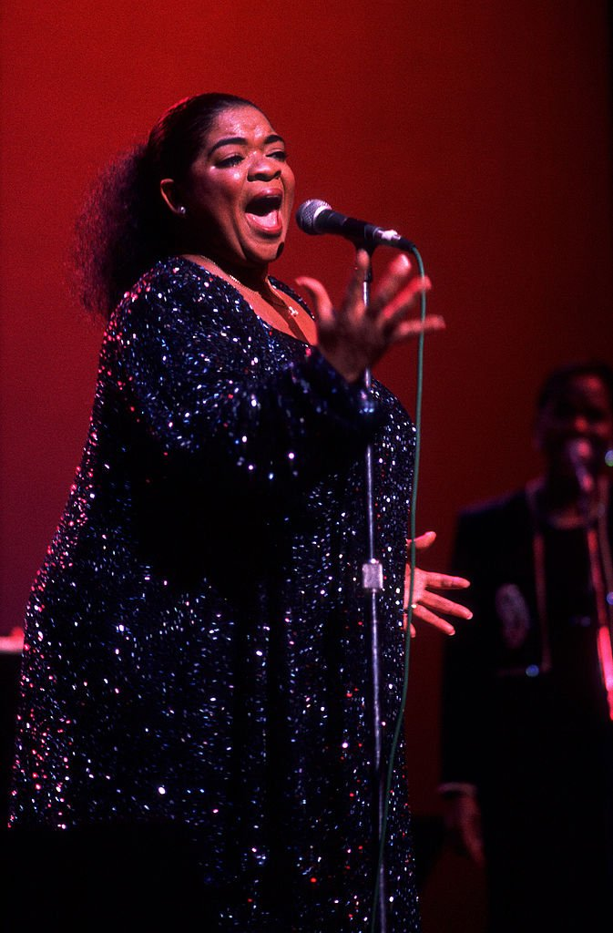Image Credits: Getty Images / Paul Natkin | Actress and singer Nell Carter at the Aire Crown theater, Chicago, Illinois, October 13, 1990.