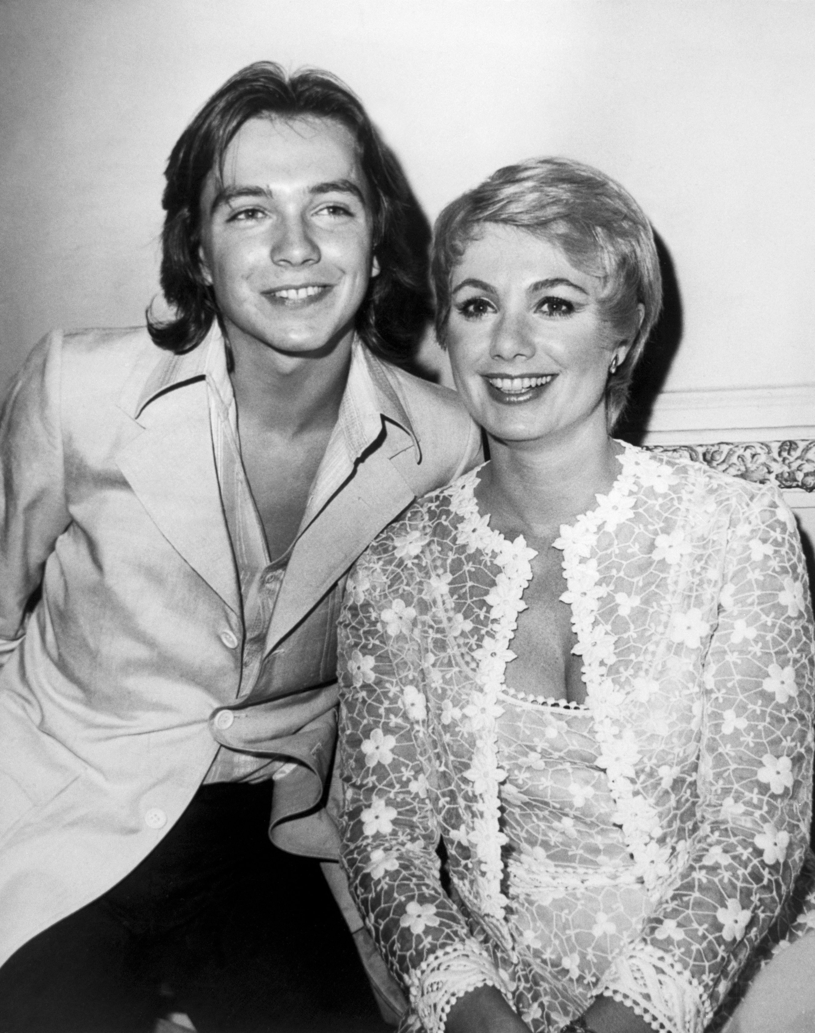 Image Credit: Getty Images / Actress and singer, Shirley Jones poses for a photo with David Cassidy.