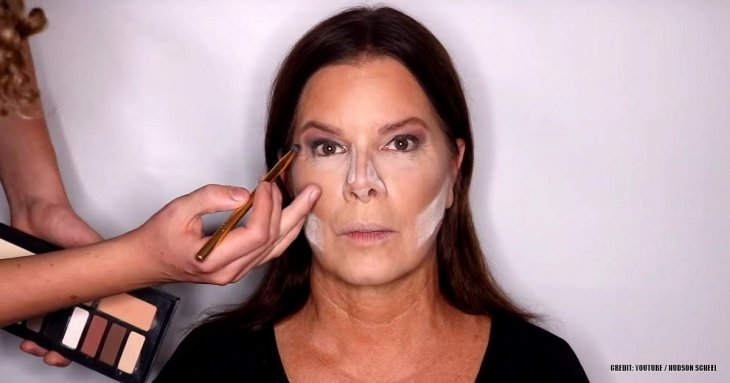 Marcia Gay Harden allows 14-year-old son to do her makeup
