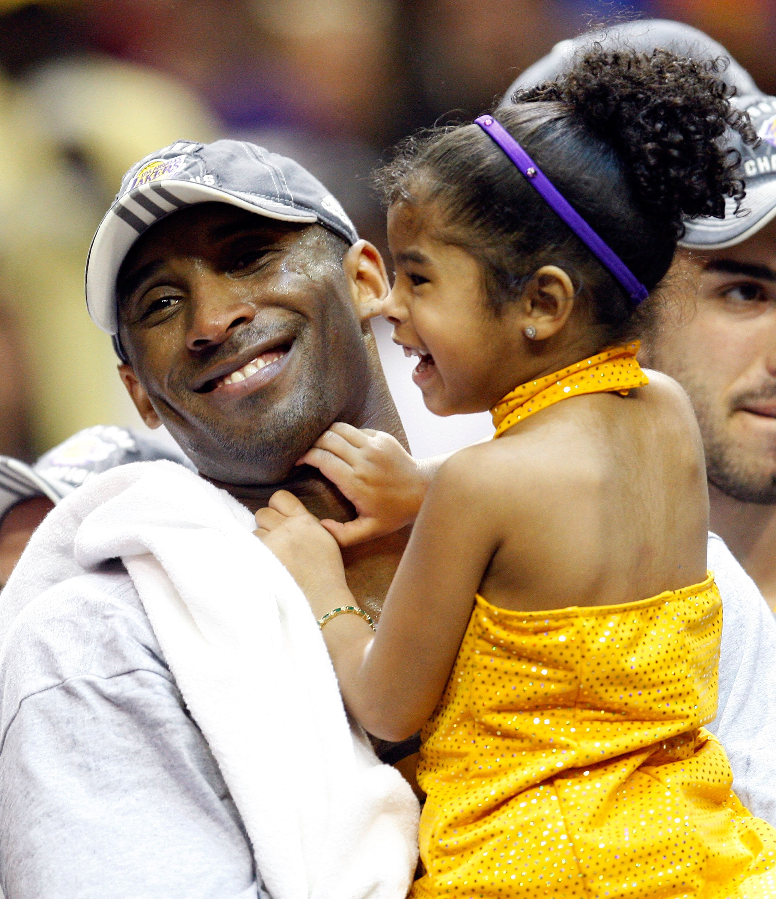 Image Source: Getty Images/Kobe Bryant with baby Gigi