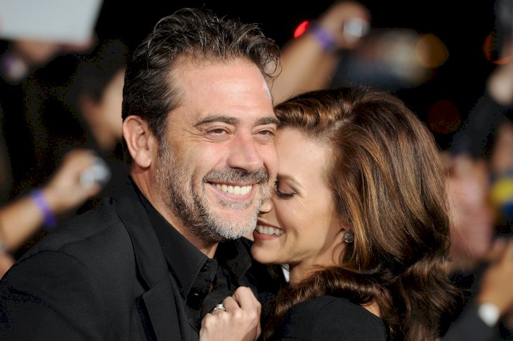 "Image Credits: Getty Images / Jason Merritt | Actor Jeffrey Dean Morgan and Hilarie Burton arrive at the Premiere of Summit Entertainment's ""The Twilight Saga: Breaking Dawn - Part 1"" at Nokia Theatre L.A. Live on November 14, 2011 in Los Angeles, California."