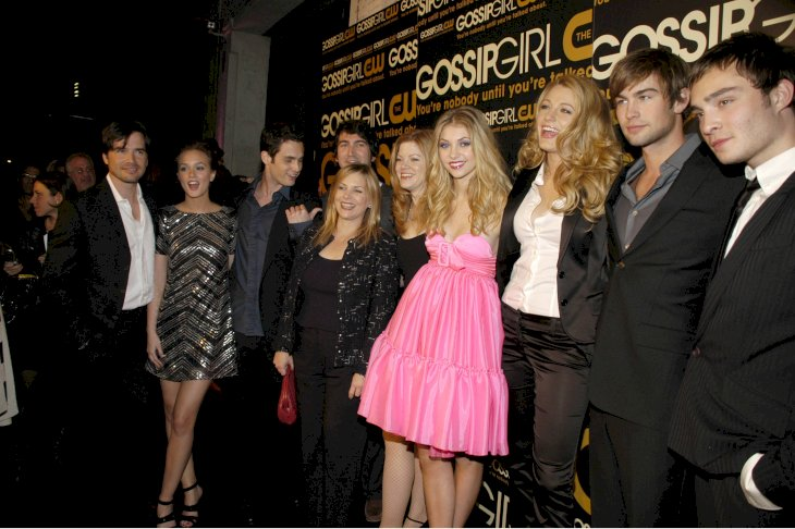 Image Credit: Getty Images / Taylor Momsen with her Gossip Girl co-stars.