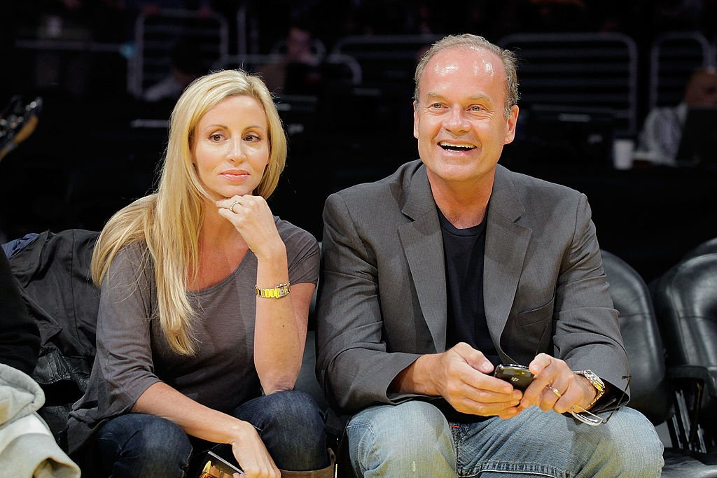 Image Credit: Getty Images / Kelsey Grammer (R) and Camille Donatacci (L) attend the Los Angeles Lakers v Dallas Mavericks game on October 30, 2009 in Los Angeles, California.