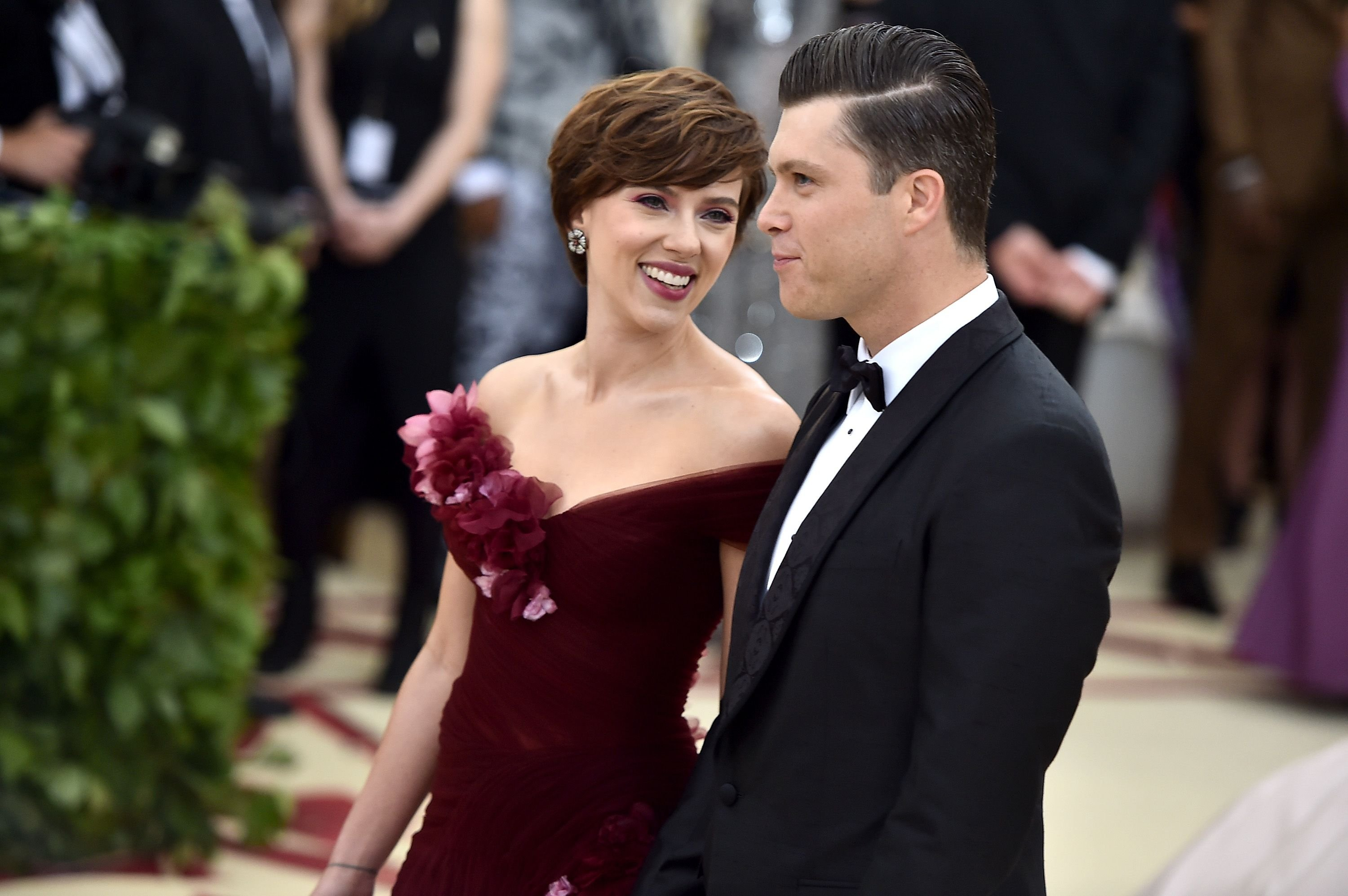 Scarlet Johansson and Colin Jost/Photo:Getty Images