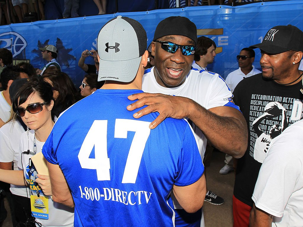 Image Credit: Getty Images / Actor Michael Clarke Duncan and actor Chace Crawford attend the Fourth Annual DIRECTV Celebrity Beach Bowl on February 6, 2010 in Miami Beach, Florida.