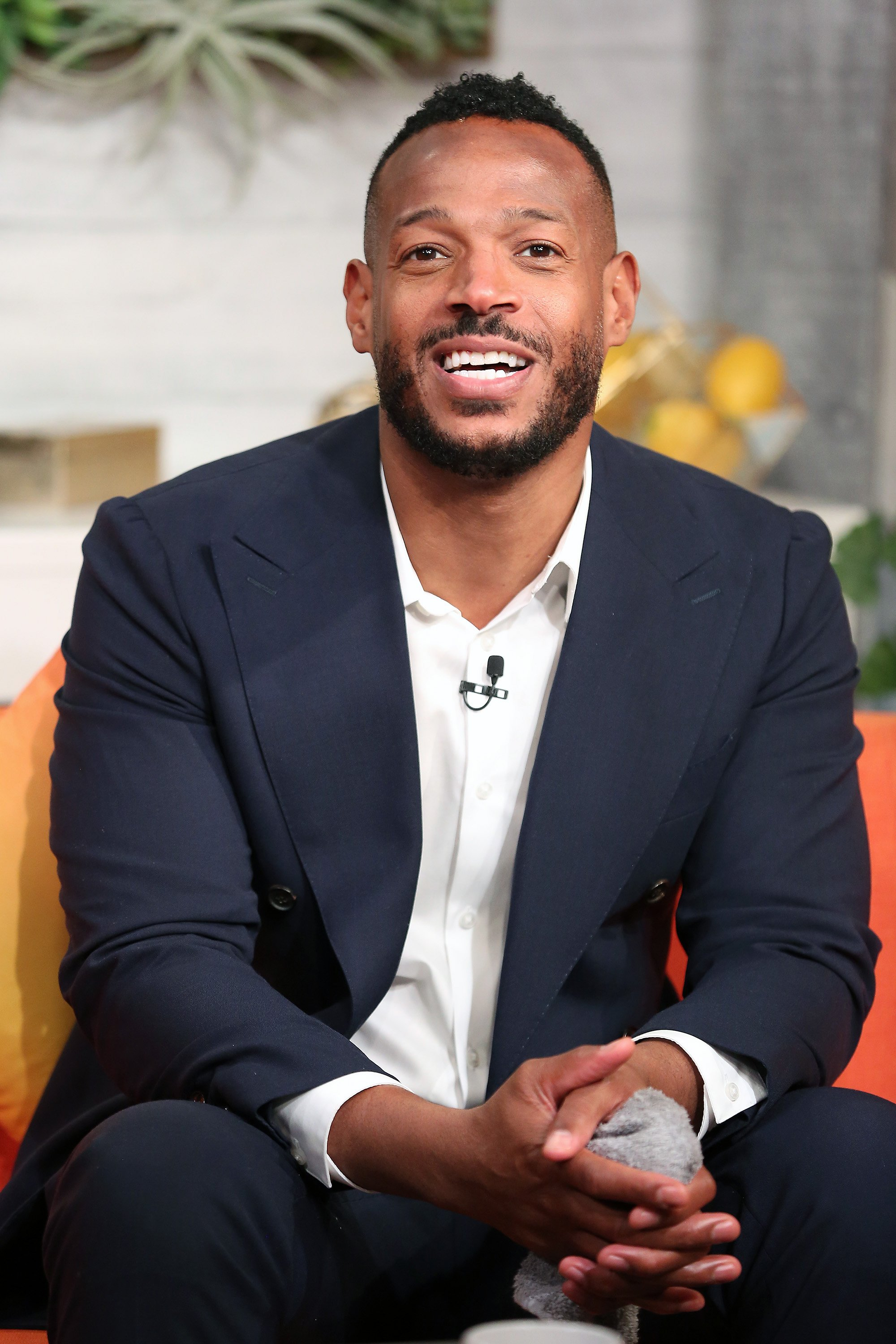"Image Credits: Getty Images / Monica Schipper | Actor, comedian and filmmaker Marlon Wayans at BuzzFeed's ""AM to DM"" on August 15, 2019 in New York City."