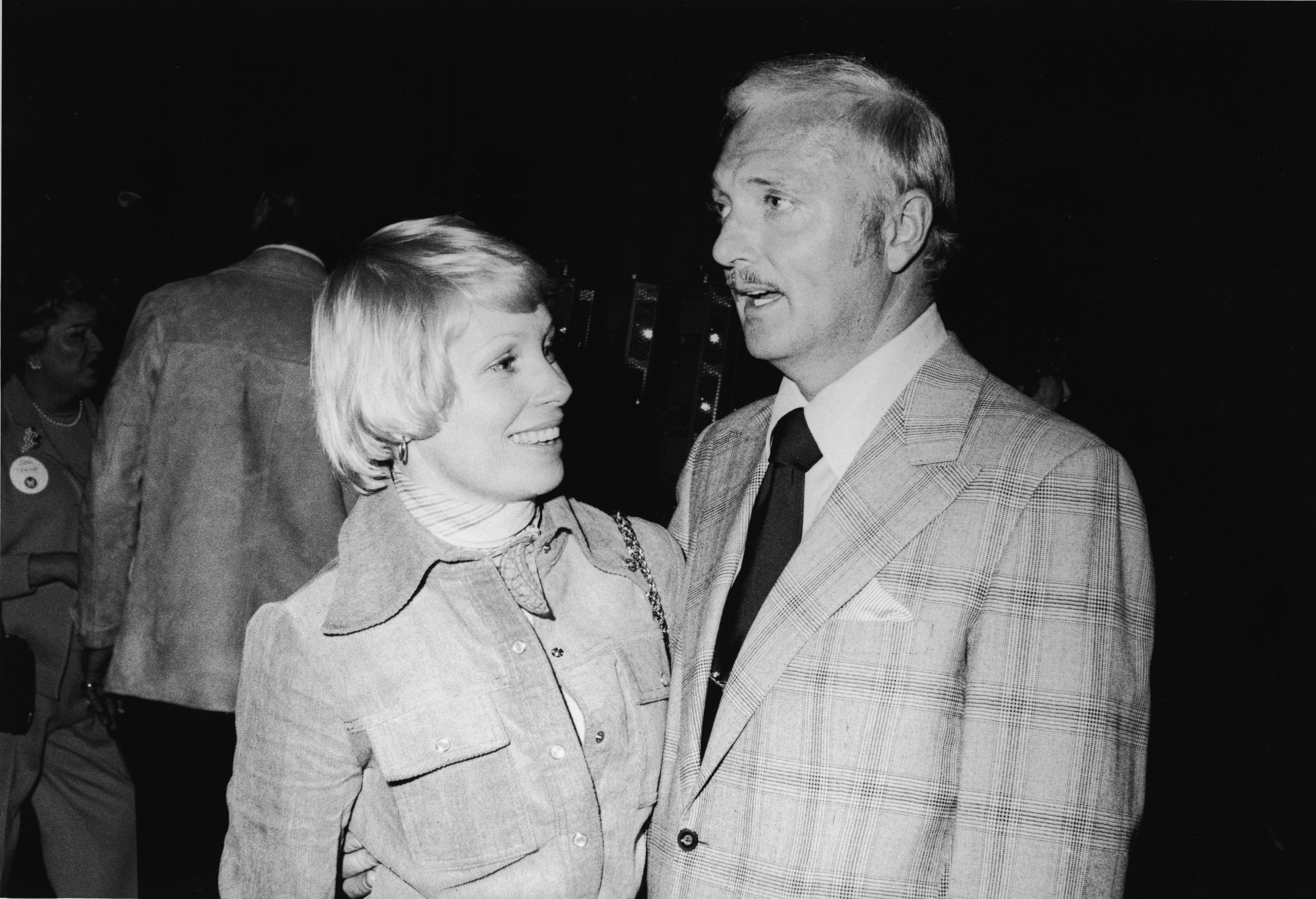 Image Source: Getty Images/American actors Joyce Bulifant and Jack Cassidy (1927 - 1971) attend the opening of the Motorama Museum in Hollywood, California, March 1975