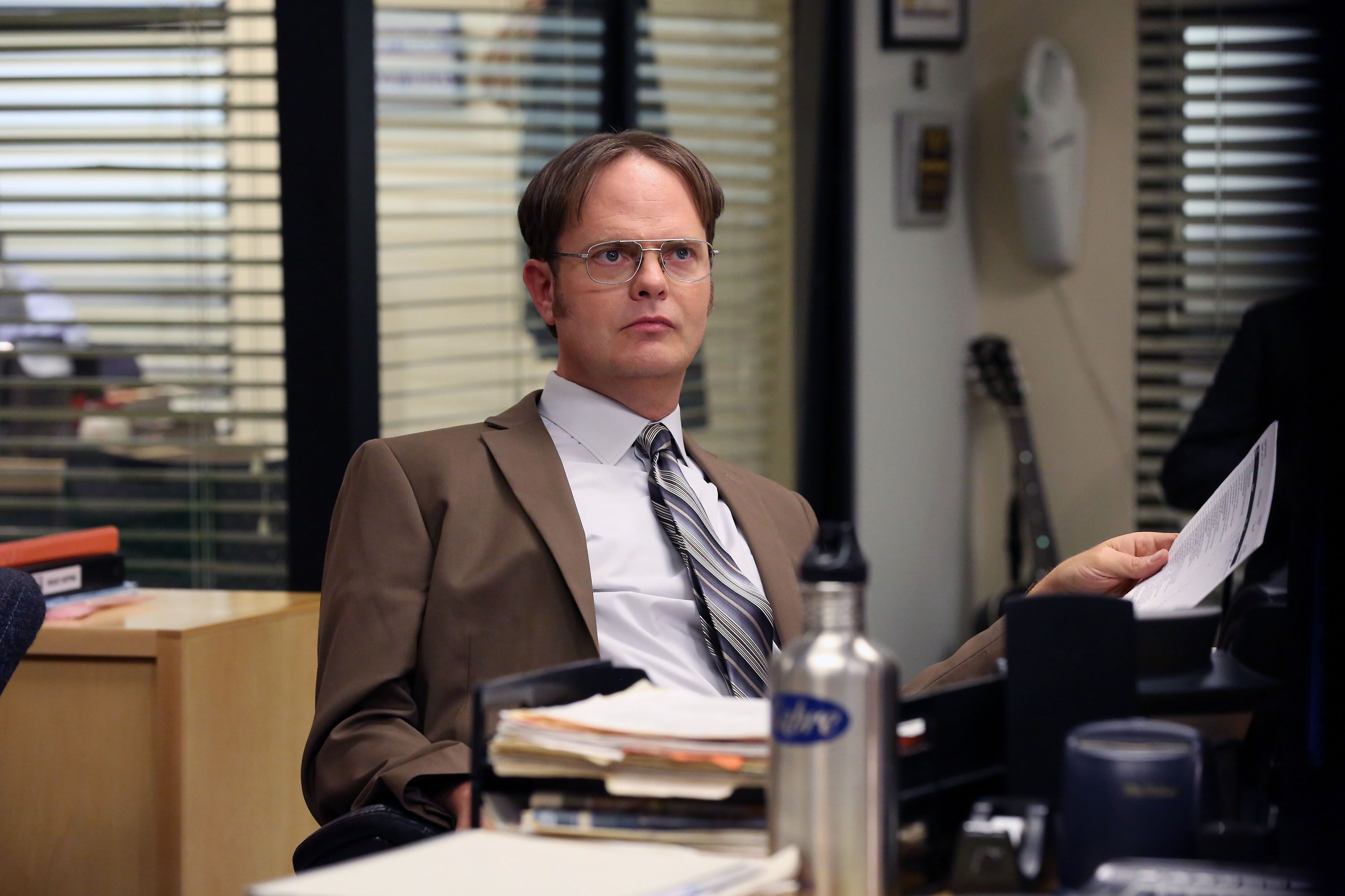 Rainn Wilson portrayed nerde Dwight in The Office / Getty Images