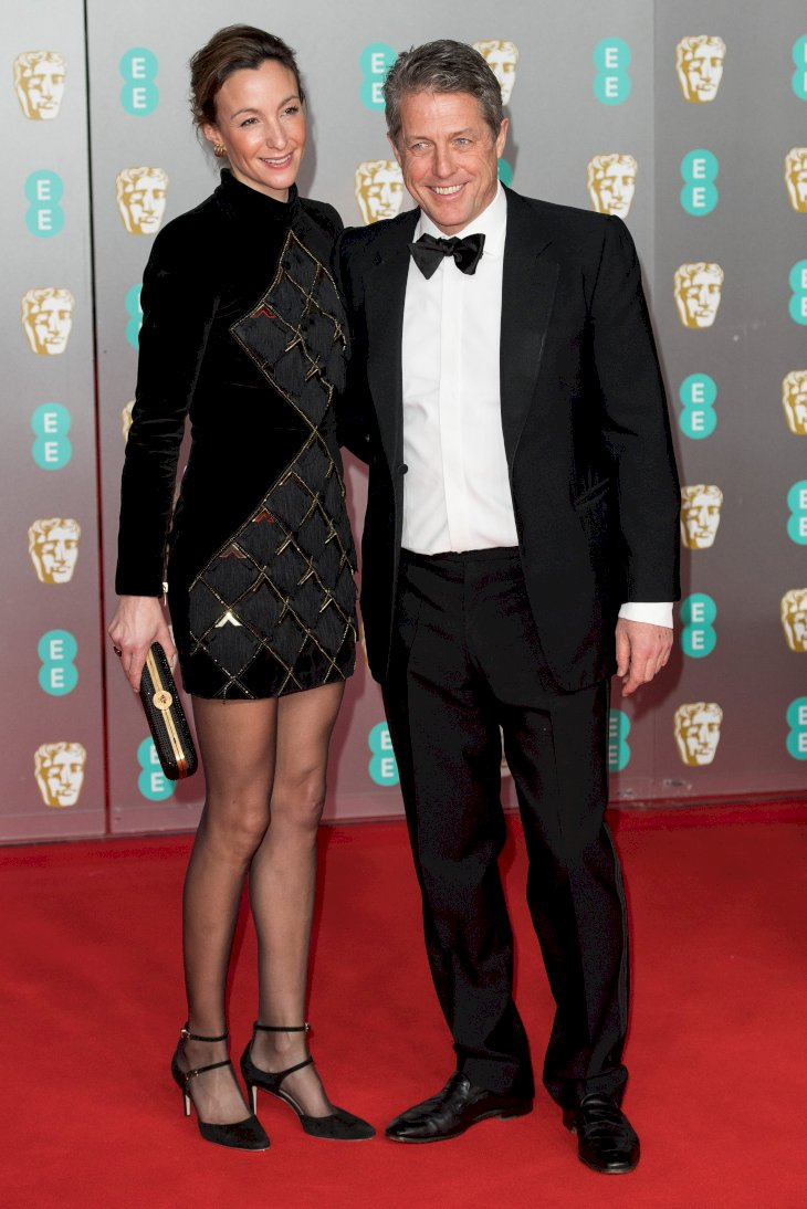 Image Credit: Getty Images/Jeff Spicer |Anna Elisabet Eberstein and Hugh Grant attend the EE British Academy Film Awards 2020