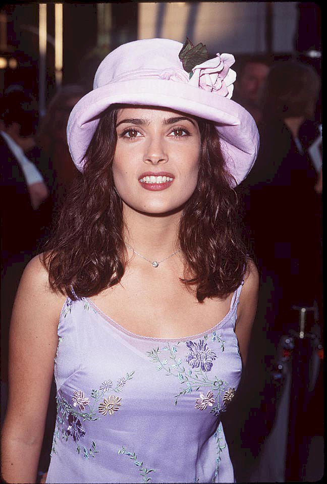 Image Credits: Getty Images / SGranitz / WireImage | Salma Hayek in July 1998.