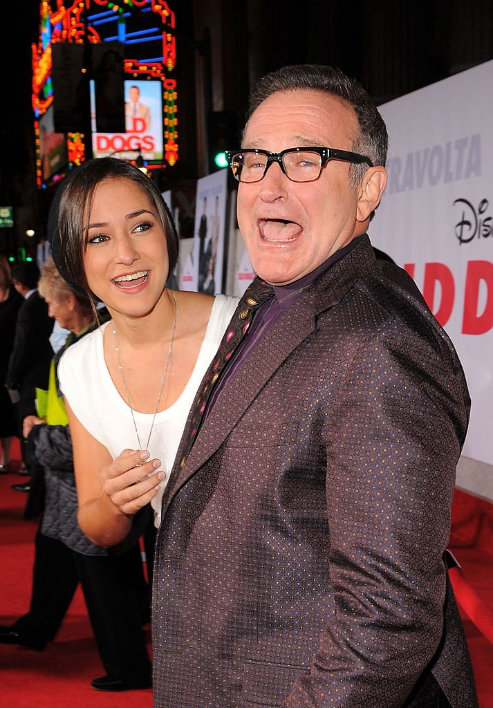 "Image Credits: Getty Images / Michael Caulfield / WireImage | Actors Zelda Williams (L) and Robin Williams arrive at the premiere of Walt Disney Pictures' ""Old Dogs"" held at the El Capitan Theatre on November 9, 2009 in Hollywood, California."