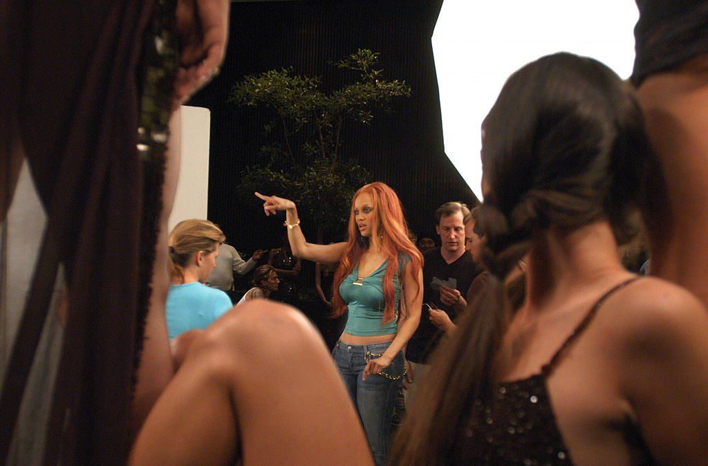 Image Credit: Getty Images / Americas Next Top Model Creator, Executive Producer and Supermodel Tyra Banks directs a photo shoot for the new group of model hopefuls on the third cycle of AMERICA'S NEXT TOP MODEL on UPN.