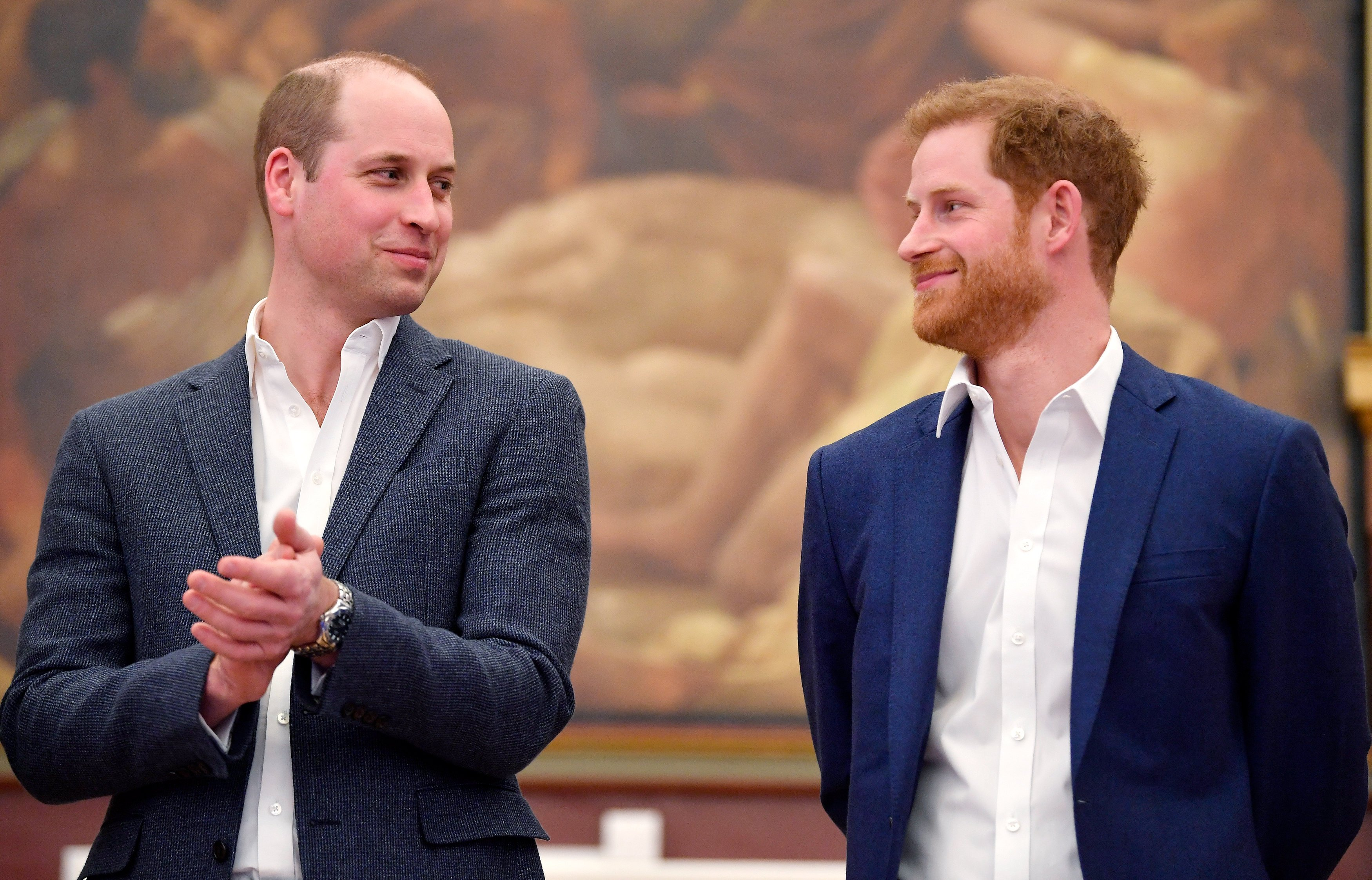 Image Credits: Getty Images / Toby Melville - WPA Pool   Prince William, Duke of Cambridge and Prince Harry attend the opening of the Greenhouse Sports Centre on April 26, 2018 in London, United Kingdom.