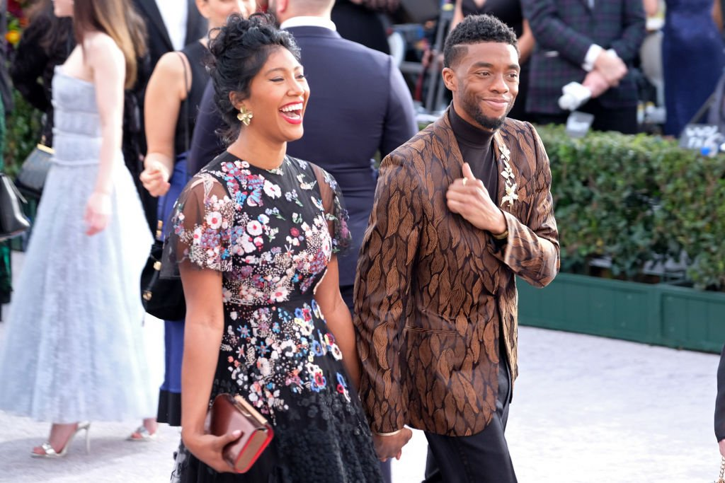 Image Credits: Getty Images / Sarah Morris | Taylor Simone Ledward and Chadwick Boseman attend the 25th annual Screen ActorsGuild Awards at The Shrine Auditorium on January 27, 2019 in Los Angeles, California.