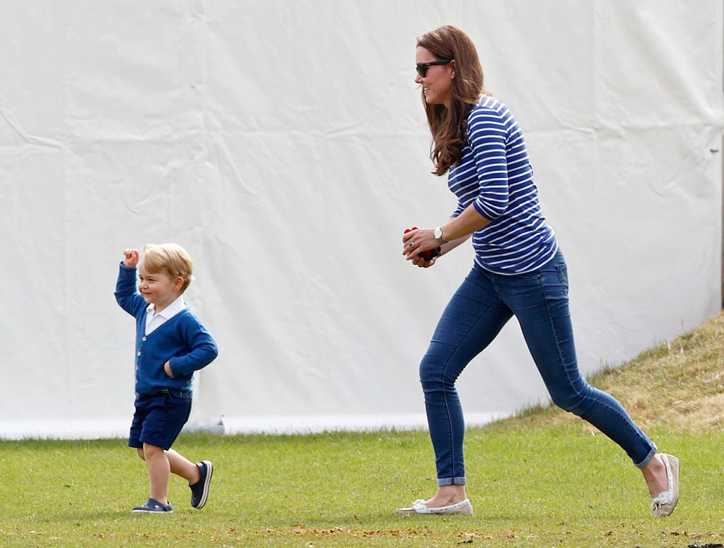 Image Credit: Getty Images / Catherine, Duchess of Cambridge and Prince George of Cambridge attend the Gigaset Charity Polo Match at the Beaufort Polo Club on June 14, 2015 in Tetbury, England.