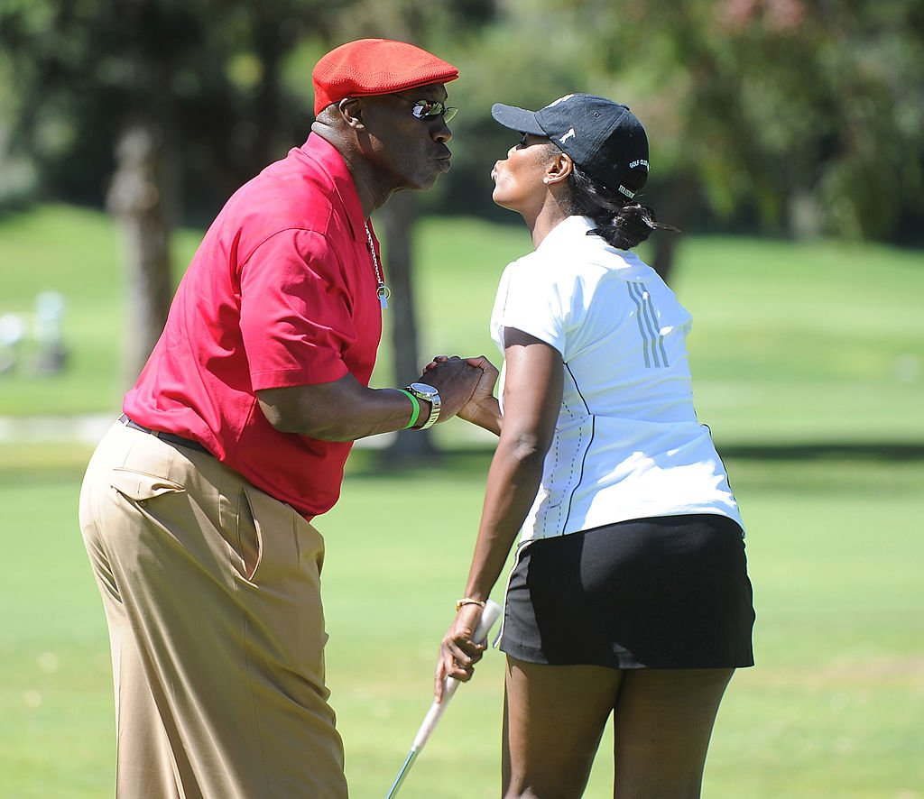 Image Credit: Getty Images / Actor Michael Clarke Duncan (L) and Omarosa attend the Fourth Annual George Lopez Celebrity Golf Classic benefitting the Lopez Foundation at Riviera Country Club on May 2, 2011 in Pacific Palisades, California.