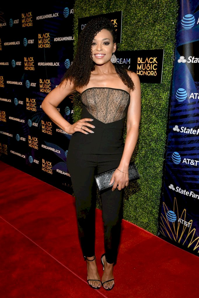 Image Credit: Getty Images/Jason Kempin |  Demetria McKinney attends the 2018 Black Music Honors