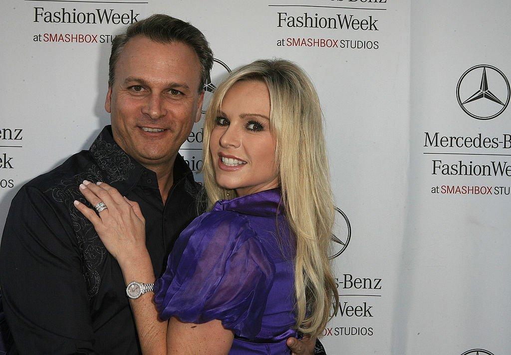 Image Credit: Getty Images / Television personalities Simon Barney and Tamra Barney attend Mercedes-Benz Fashion Week on March 13, 2008 in Culver City, California.