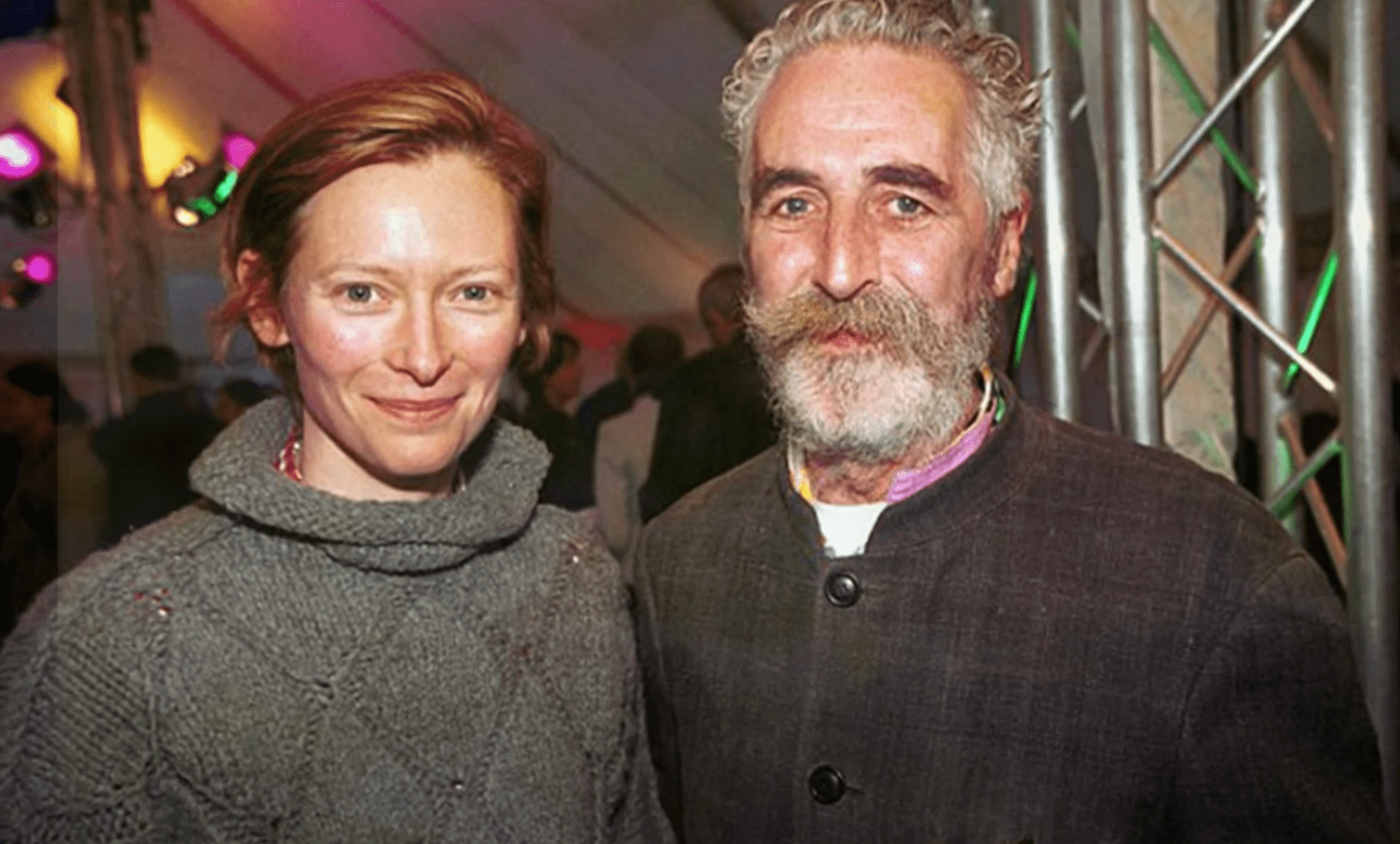 Image Credits: YouTube /  Haroon Aaron | Tilda Swinton and ex-husband John Byrne