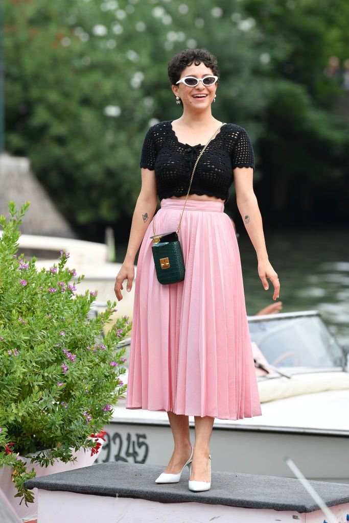 Image Source: Getty Images/Jacopo Raule/Alia Shawkat is seen arriving at the 76th Venice Film Festival on September 02, 2019 in Venice, Italy
