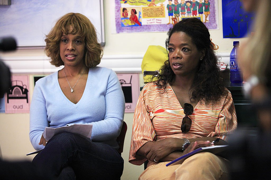 Image Credit: Getty Images / Oprah Winfrey and her best friend Gayle King listens as teachers interview candidates for her school for unprivileged girls on August 12, 2006 in Durban, South Africa.