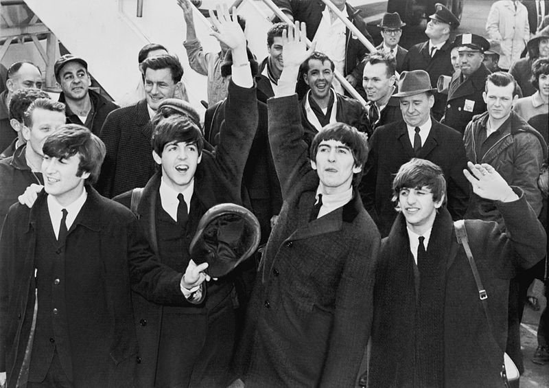 The Beatles in America Image Source: Wikimedia Commons.
