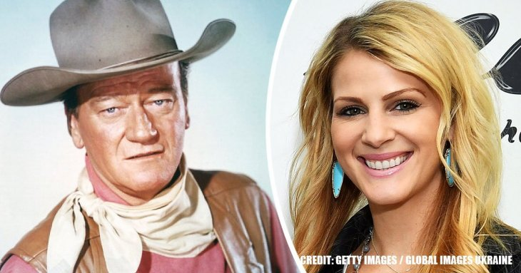 Video shows John Wayne's granddaughter paying emotional tribute to late actor