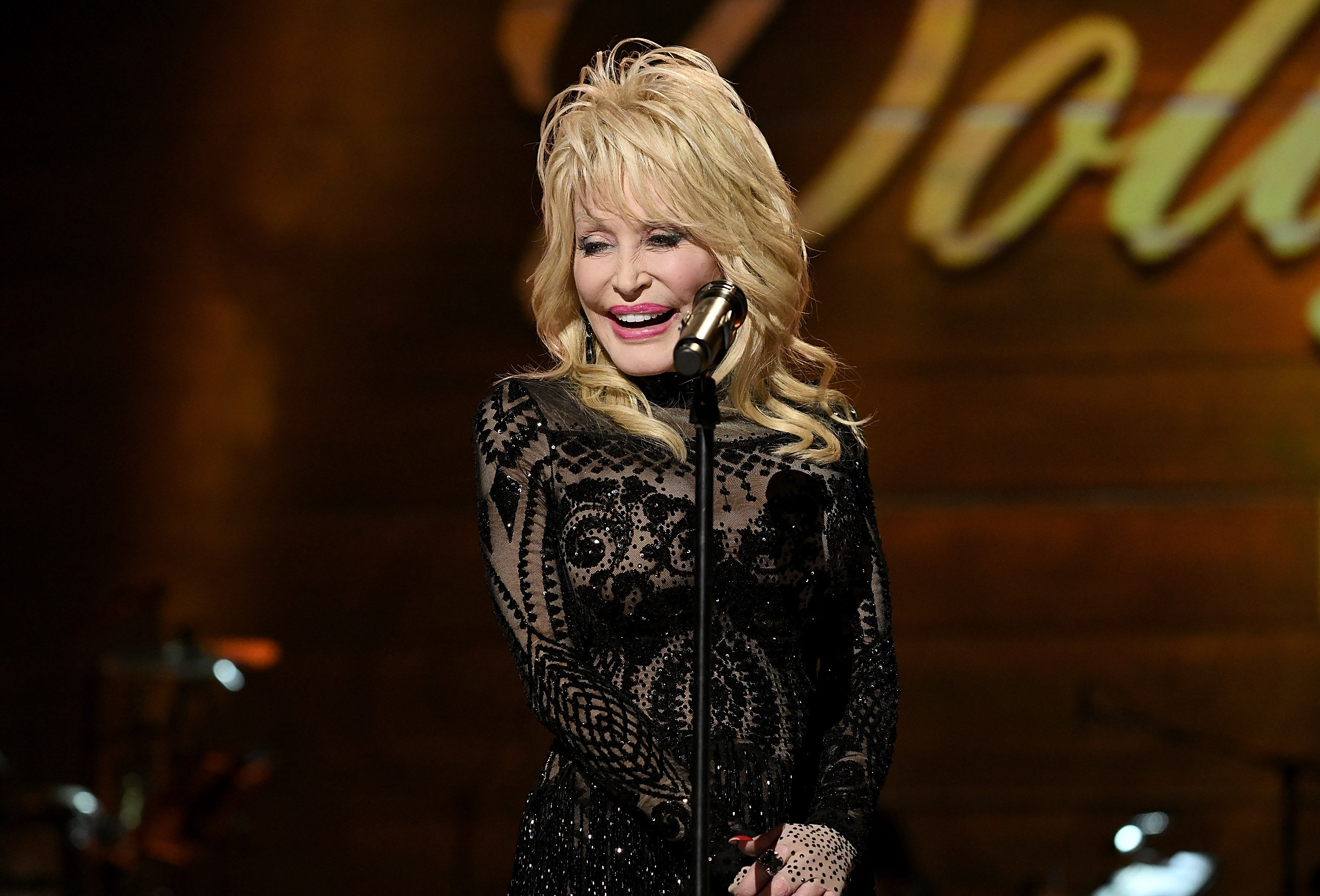 Dolly Parton at the MusiCares Person of the Year honoring Dolly Parton at Los Angeles Convention Center on February 8, 2019 | Image Source: Getty Images