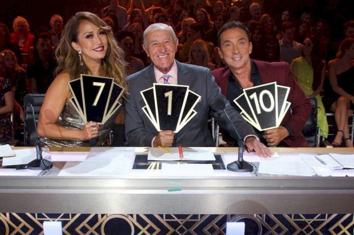 Image Credit: Getty Images/ABC via Getty Images/Eric McCandless | The Judges of Dancing with the Stars showing off their scores.