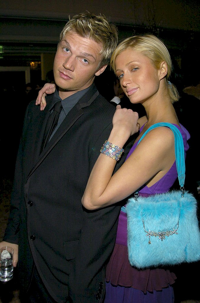 Image Credits: Getty Images / KMazur / WireImage | Nick Carter and Paris Hilton during 2004 Clive Davis Pre-Grammy Party - Inside Arrivals at Beverly Hills Hotel in Beverly Hills, California, United States.